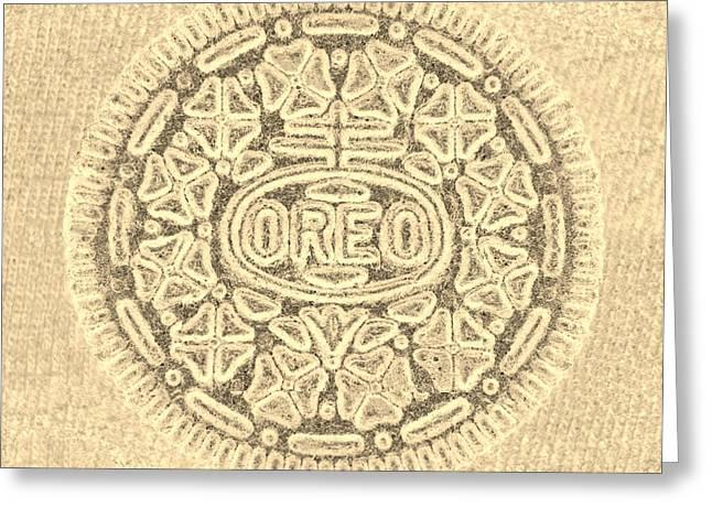 Oreo Greeting Cards - O R E O in SEPIA Greeting Card by Rob Hans