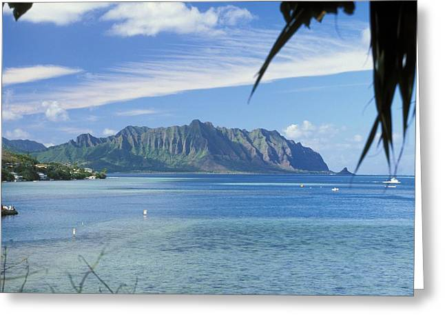 Peter French Greeting Cards - Oahu, Kaneohe Bay Greeting Card by Peter French - Printscapes