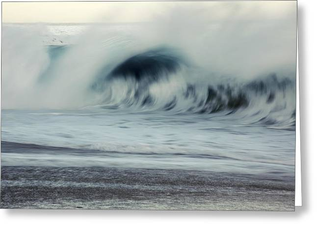 Vince Greeting Cards - Oahu Morning Wave Greeting Card by Vince Cavataio - Printscapes