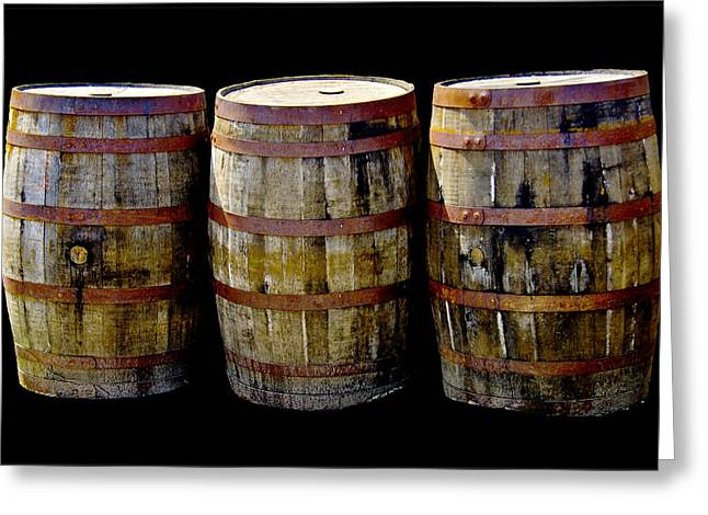 Coopersmiths Greeting Cards - Oak Barrel Edge Definition Greeting Card by LeeAnn McLaneGoetz McLaneGoetzStudioLLCcom