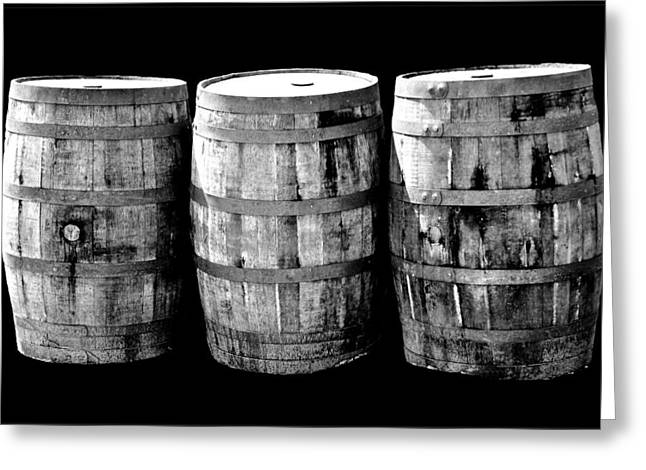 Coopersmiths Greeting Cards - Oak Barrel Gray Greeting Card by LeeAnn McLaneGoetz McLaneGoetzStudioLLCcom