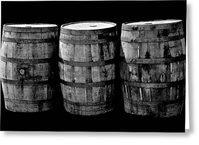 Coopersmiths Greeting Cards - Oak Barrel Red Filter Greeting Card by LeeAnn McLaneGoetz McLaneGoetzStudioLLCcom