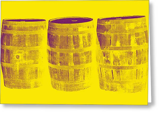 Coopersmiths Greeting Cards - Oak Barrel Yellow Gradient Greeting Card by LeeAnn McLaneGoetz McLaneGoetzStudioLLCcom