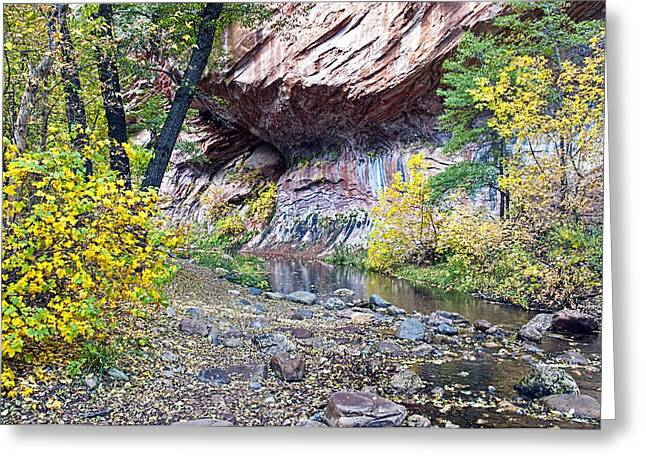 West Fork Greeting Cards - Oak Creek Canyon Wall Greeting Card by Brian Lambert
