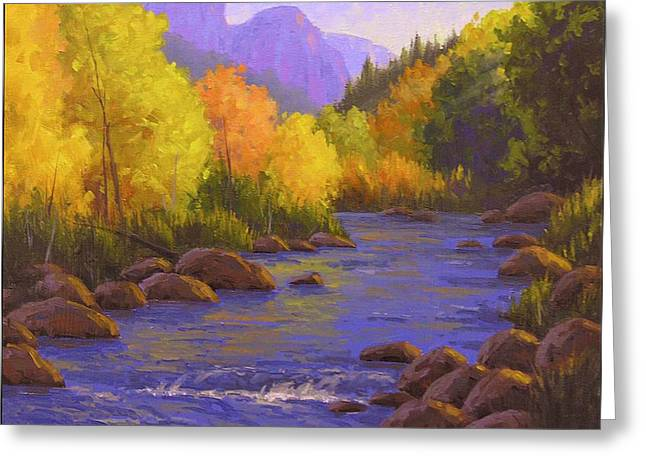 Creek Greeting Cards - Oak Creek Color Show Greeting Card by Cody DeLong