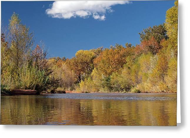Oak Creek Greeting Cards - Oak Creek Reflection Greeting Card by Joshua House