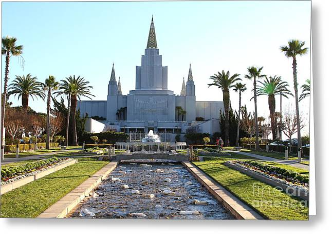 Burton Greeting Cards - Oakland California Temple . The Church of Jesus Christ of Latter-Day Saints . 7D11305 Greeting Card by Wingsdomain Art and Photography
