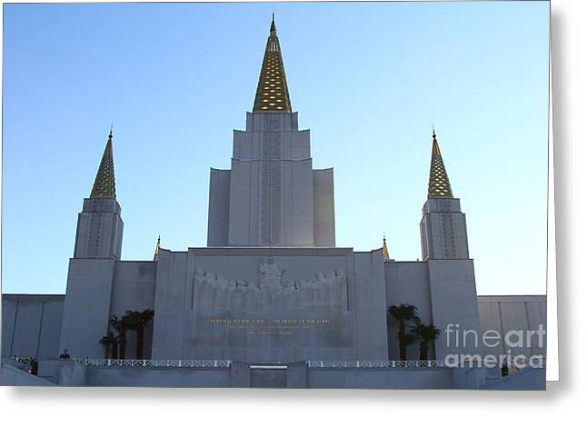 Burton Greeting Cards - Oakland California Temple . The Church of Jesus Christ of Latter-Day Saints . 7D11326 Greeting Card by Wingsdomain Art and Photography