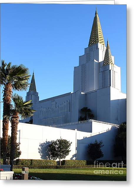 Burton Greeting Cards - Oakland California Temple . The Church of Jesus Christ of Latter-Day Saints . 7D11329 Greeting Card by Wingsdomain Art and Photography