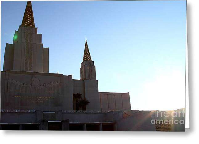 The Church Greeting Cards - Oakland California Temple . The Church of Jesus Christ of Latter-Day Saints . 7D11330 Greeting Card by Wingsdomain Art and Photography