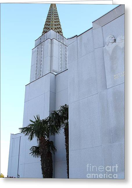 Oakland California Temple . The Church Of Jesus Christ Of Latter-day Saints . 7d11335 Greeting Card by Wingsdomain Art and Photography
