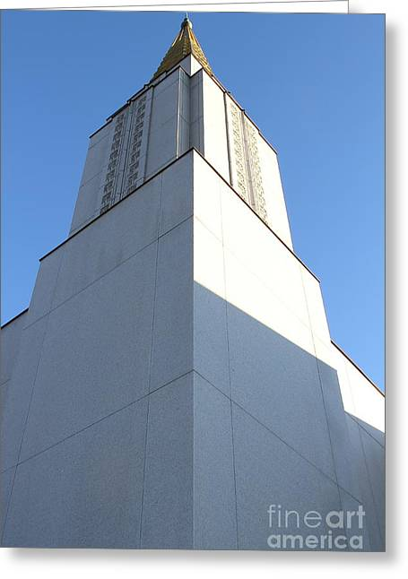Burton Greeting Cards - Oakland California Temple . The Church of Jesus Christ of Latter-Day Saints . 7D11337 Greeting Card by Wingsdomain Art and Photography