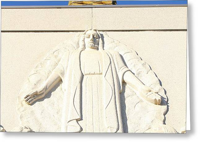 Oakland California Temple . The Church of Jesus Christ of Latter-Day Saints . 7D11350 Greeting Card by Wingsdomain Art and Photography
