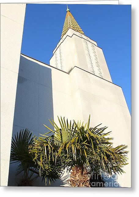 Burton Greeting Cards - Oakland California Temple . The Church of Jesus Christ of Latter-Day Saints . 7D11352 Greeting Card by Wingsdomain Art and Photography