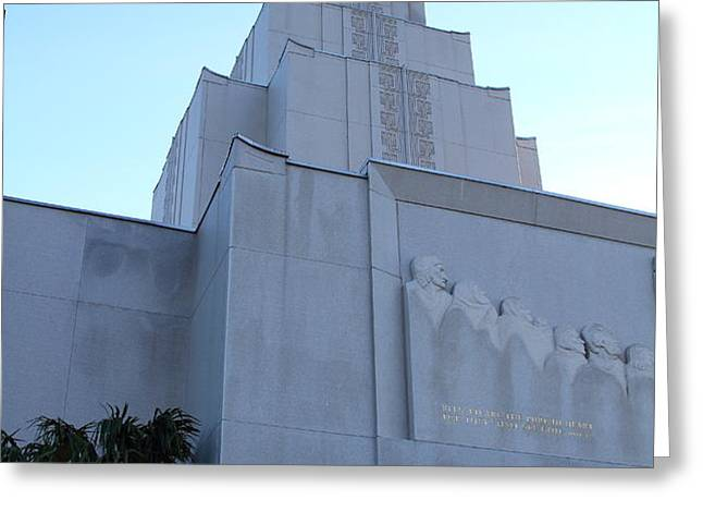 Oakland California Temple . The Church of Jesus Christ of Latter-Day Saints . 7D11364 Greeting Card by Wingsdomain Art and Photography
