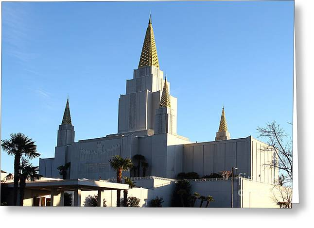 Oakland California Temple . The Church Of Jesus Christ Of Latter-day Saints . 7d11375 Greeting Card by Wingsdomain Art and Photography