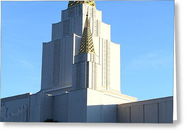 Oakland California Temple . The Church of Jesus Christ of Latter-Day Saints . 7D11377 Greeting Card by Wingsdomain Art and Photography