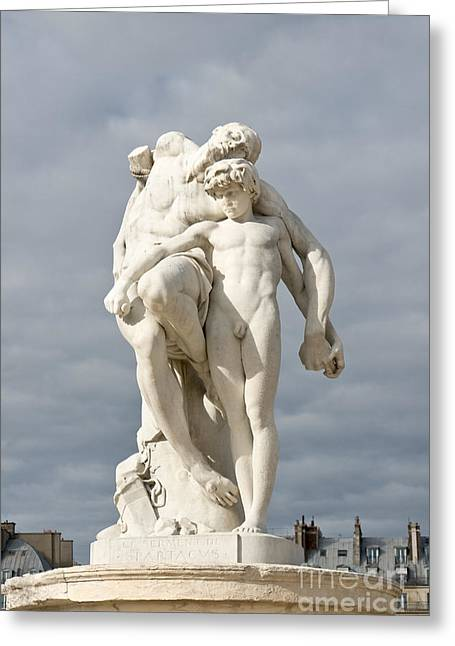 The Tuileries Gardens Greeting Cards - Oath of Spartacus Greeting Card by Fabrizio Ruggeri
