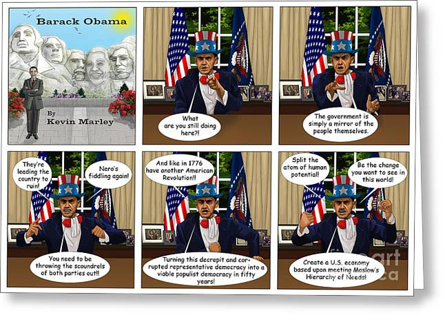 Obama 2012 Greeting Cards - Obama as Uncle Sam III Greeting Card by Kevin  Marley