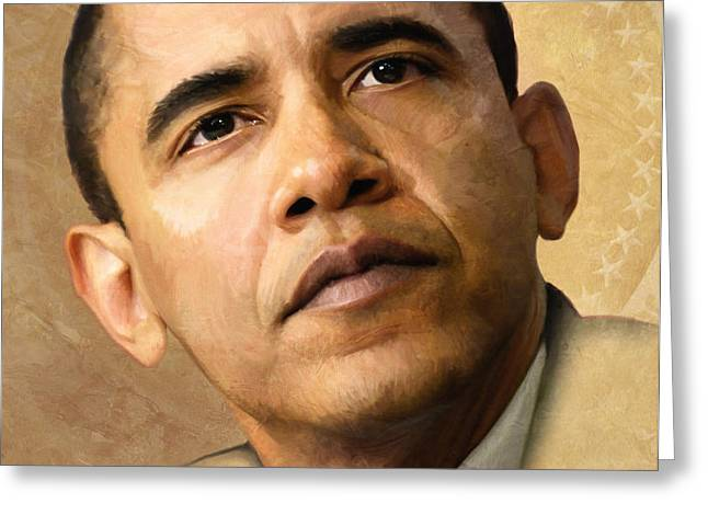 Obama Greeting Card by Joel Payne