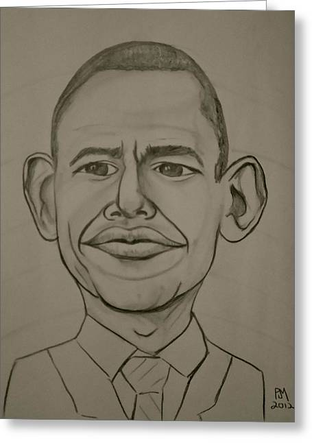 Obama Greeting Card by Pete Maier
