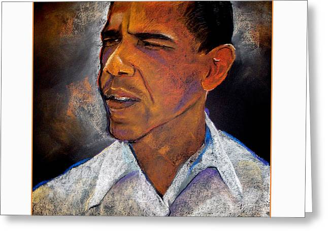 Obama. The 44th President. Greeting Card by Fred Makubuya