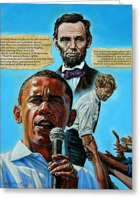 Obama Greeting Cards - Obamas Heritage Greeting Card by John Lautermilch