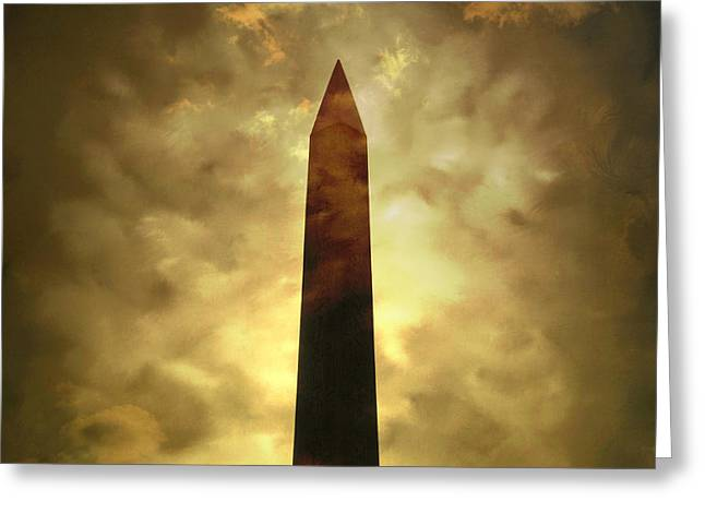 Obelisk Greeting Cards - Obelisk. illustration Greeting Card by Bernard Jaubert