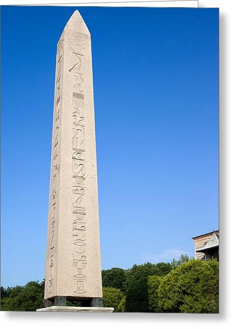 Pharaoh Greeting Cards - Obelisk of Theodosius Greeting Card by Artur Bogacki