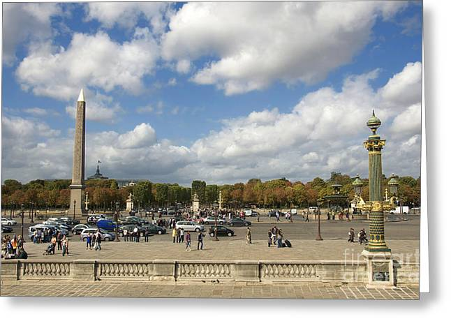 Obelisque place de la Concorde. Paris. France Greeting Card by BERNARD JAUBERT