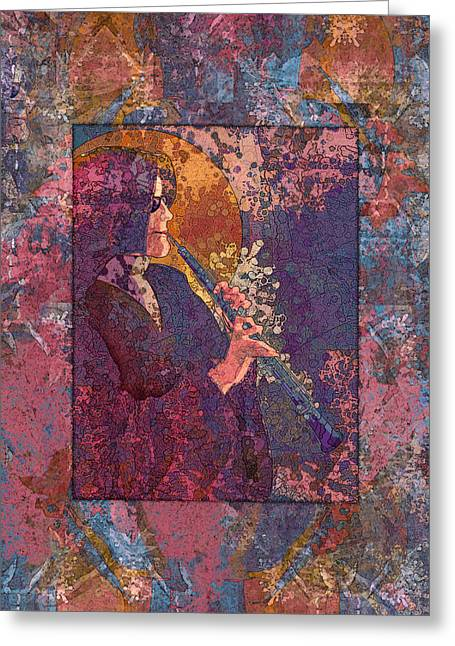 Ogling Greeting Cards - Oboe Lament Greeting Card by Mary Ogle
