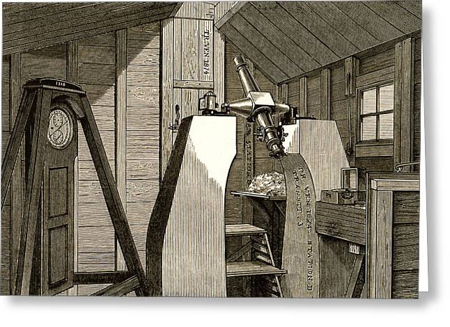 Observatory For 1874 Transit Of Venus Greeting Card by Sheila Terry