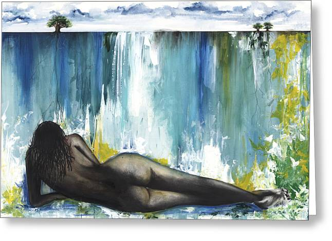 African-american Mixed Media Greeting Cards - Obsessed Greeting Card by Anthony Burks Sr