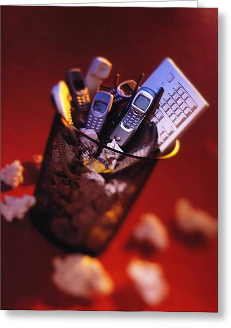 Thrown Away Greeting Cards - Obsolete Technology Greeting Card by Mark Sykes