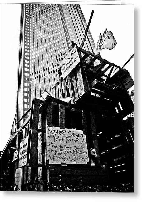 Occupy Greeting Cards - Occupied Greeting Card by Jessica Brawley