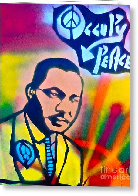 Conservative Greeting Cards - Occupy DR. KING Greeting Card by Tony B Conscious