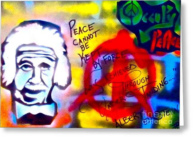 99 Percent Greeting Cards - Occupy Einstein Greeting Card by Tony B Conscious