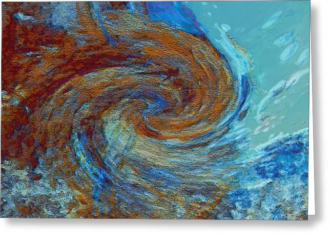 Energy Art Movement Greeting Cards - Ocean colors Greeting Card by Linda Sannuti