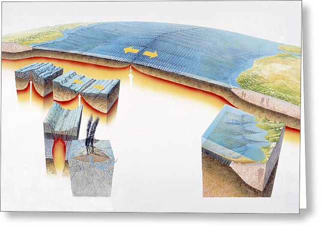 Ocean Floor Greeting Cards - Ocean Crust Greeting Card by Gary Hincks