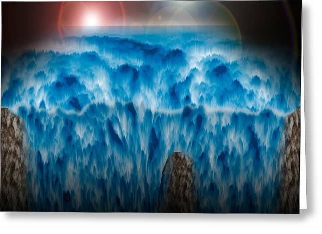 Risen Greeting Cards - Ocean Falling into Abyss Greeting Card by Christopher Gaston