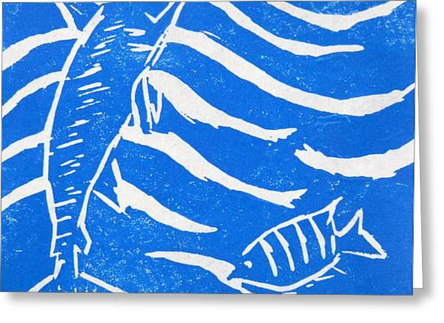 Ocean Fun Greeting Card by Marita McVeigh