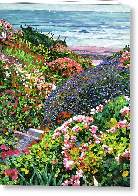 Garden Scene Greeting Cards - Ocean Impressions Greeting Card by David Lloyd Glover