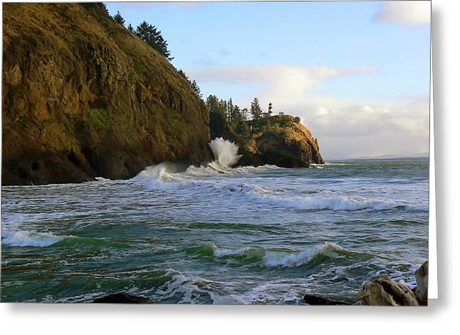 Best Sellers -  - State Parks In Oregon Greeting Cards - Ocean in Motion  Greeting Card by Pamela Patch