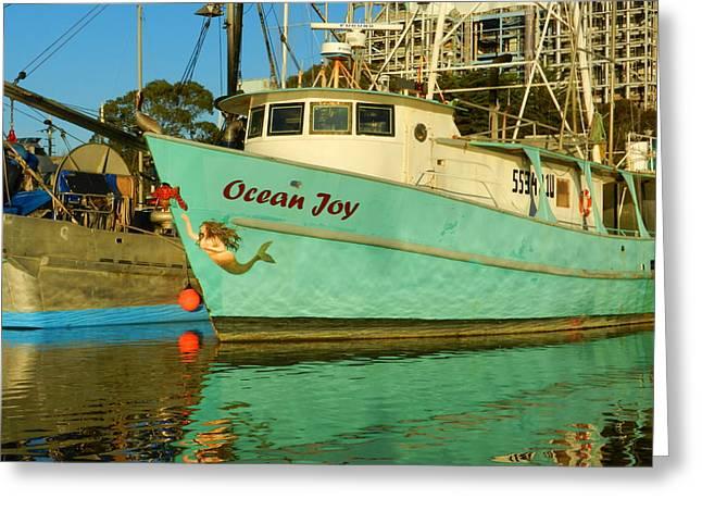 Moss Landing Harbor Greeting Cards - Ocean Joy Greeting Card by Jim Salisbury