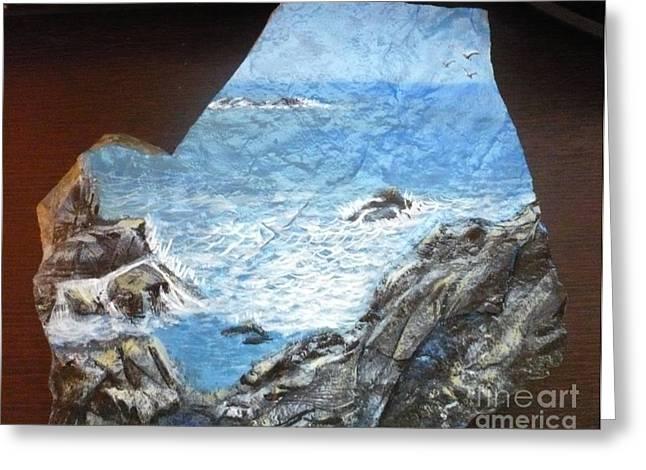 Calm Sculptures Greeting Cards - Ocean Greeting Card by Monika Dickson-Shepherdson