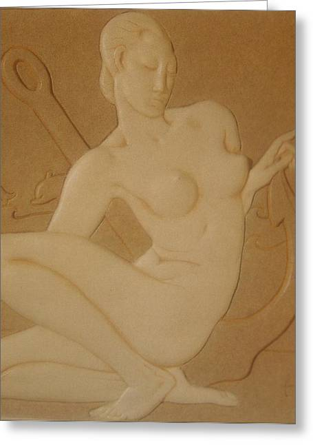 Style Sculptures Greeting Cards - OCEAN NYMPH  -  Art Deco Greeting Card by Gunter  Hortz