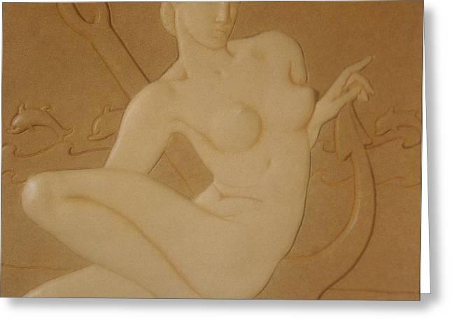 OCEAN NYMPH  -  Art Deco Greeting Card by Gunter  Hortz