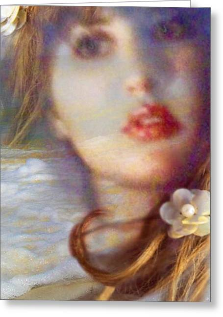 Lip Pyrography Greeting Cards - Ocean Pearls Greeting Card by Laura Rispoli