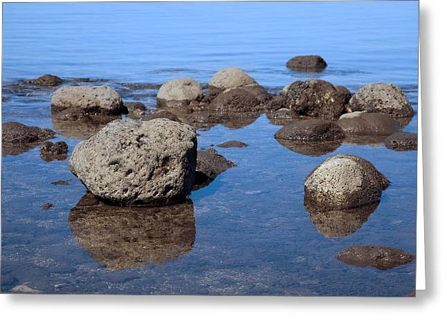 Lahaina Greeting Cards - Ocean Rocks Greeting Card by Jenna Szerlag