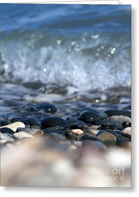 Wet Floor Greeting Cards - Ocean Stones Greeting Card by Stylianos Kleanthous